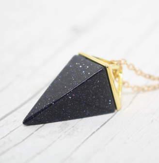 By Poppy Blue Sandstone Necklace