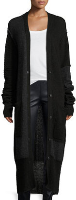 McQ Alexander McQueen Button-Front Long-Sleeve Patched Duster Cardigan $525 thestylecure.com