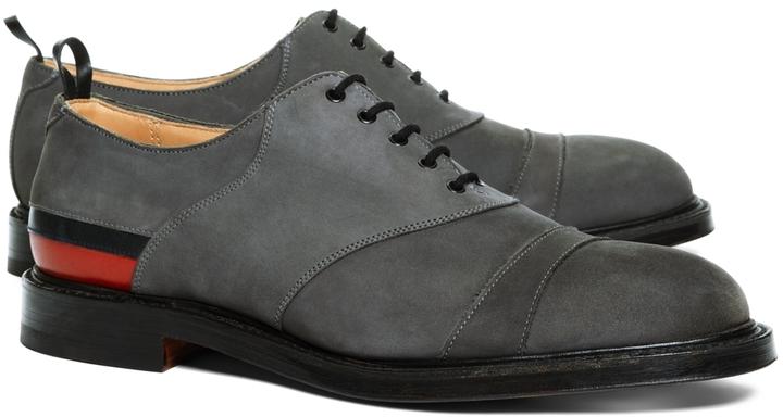 Brooks Brothers Nubuck Stripe Shoes