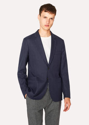 Paul Smith Men's Slim-Fit Navy Wool-Hopsack Unlined Blazer