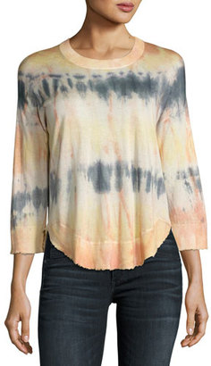 Zadig & Voltaire Kimmy Tie-Dye Scoop-Neck Top, Multicolor $298 thestylecure.com