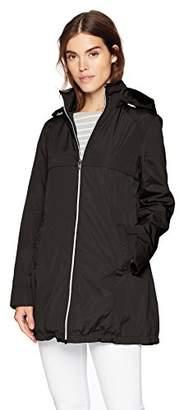 f236116aecf Via Spiga Women s Plus-Size A-line Lightweight Packable Rain Jacket