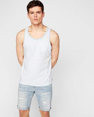 Express Striped Scoop Neck Pocket Tank