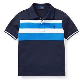 Polo Ralph Lauren Striped Tech Mesh Polo Shirt(2-7 Years)