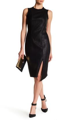 Rachel Rachel Roy Bonded Faux Leather Sweater Dress $169 thestylecure.com
