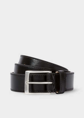 Paul Smith Men's Black Leather Belt With 'Naked Lady' Interior Print