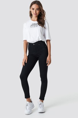 Cheap Monday High Spray Black Jeans Black