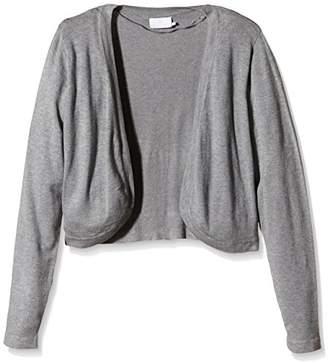 Kaffe Women's 500020 Regular Fit V-Neck Long Sleeve Shrug - Grey - X-Large