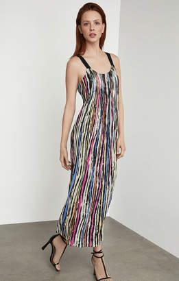 BCBGMAXAZRIA Striped Maxi Shift Dress