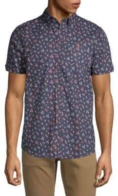 Ben Sherman Palm Tree-Print Cotton Shirt