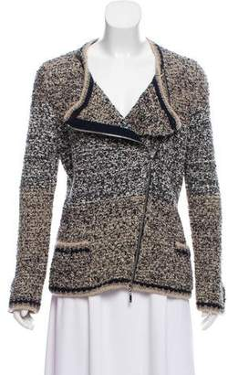 Chanel Silk Moto Cardigan