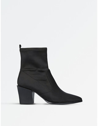 Nine West Ladies Black Timeless Eshella Fabric Ankle Boots