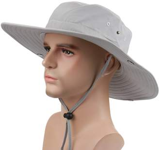 at Amazon Canada · Surblue Wide Brim Cowboy Hat Collapsible Hats Fishing Golf  Hat Sun Block UPF50+ 2accab4a4f48