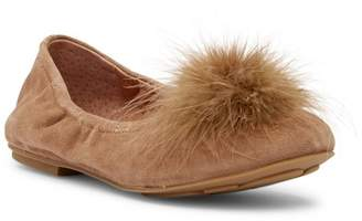 Kenneth Cole Gentle Souls by Portia Turkey Feather Pompom Flat