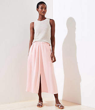 LOFT Petite Pull On Maxi Skirt