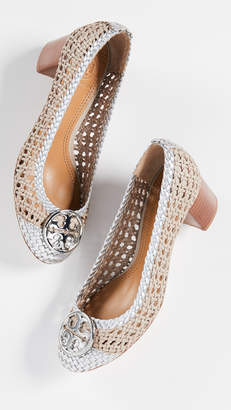 Tory Burch Chelsea Woven 50mm Cap Toe Pumps