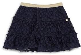 Lili Gaufrette Toddler's& Little Girl's Navy Rose Skirt
