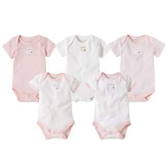Burt's Bees Bee Essentials Organic Short Sleeve Baby Bodysuits Set of 5