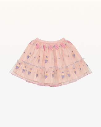 Juicy Couture Cool Treats Embroidered Mesh Party Skirt for Girls