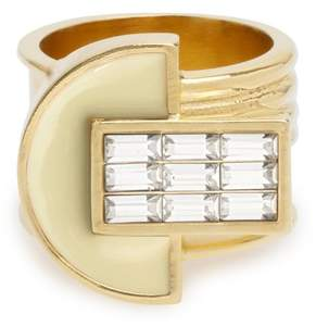 Cercle Amédée Art Deco Night Owl White Ring