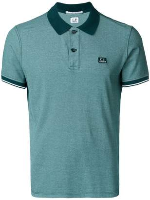 C.P. Company tonal trim polo shirt