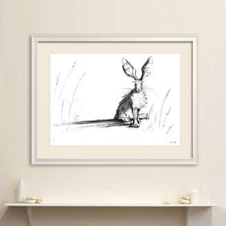 James Hollis Art Meadow Hare Original Charcoal Drawing