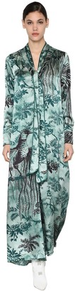 F.R.S For Restless Sleepers CLOQUE LONG PRINTED VISCOSE DRESS