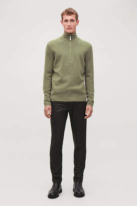 Cos HIGH-NECK WOOL JUMPER WITH ZIP