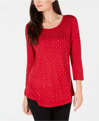 JM Collection Plus Size Embellished Top