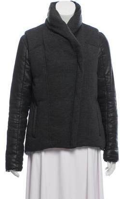 Helmut Lang Wool Mock Neck Down Jacket