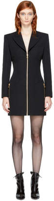 Balmain Black Zip Blazer Dress