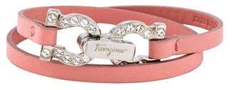 Salvatore Ferragamo Leather Double Wrap Bracelet