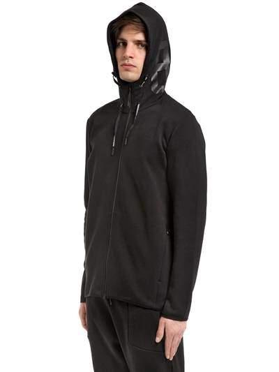 Peak Performance Tech Hooded Cotton Blend Sweatshirt