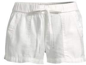 Joie Women's Fosette Linen Shorts - Porcelain - Size Medium