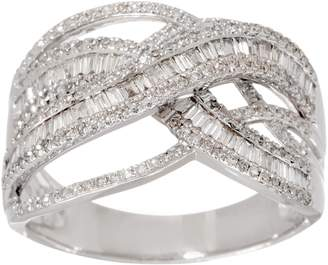 Affinity Diamond Jewelry Diamond Crossover Ring, 3/4 cttw, 14K, by Affinity