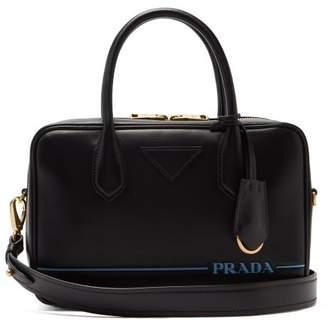 Prada Mirage Leather Bowling Bag - Womens - Black