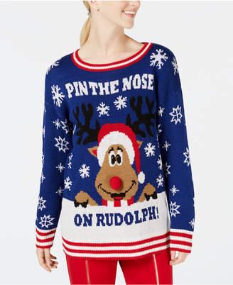 Ultra Flirt by Ikeddi Juniors' Rudolph Reindeer Sweater