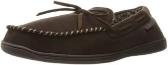 Dearfoams Men's Microfiber Suede Trapper Moc with Memory Foam Moccasin