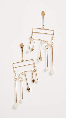 Aurelie Bidermann Siroco Earrings with Baroque Pearls
