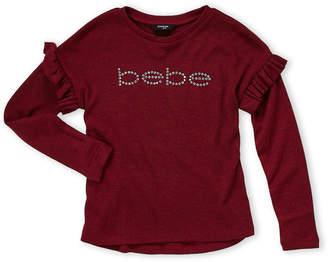 Bebe Girls (Girls 7-16) Drop Shoulder Ruffle Sweater