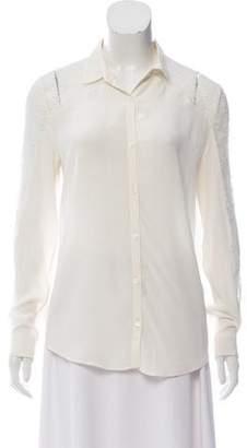 The Kooples Silk Long Sleeve Top