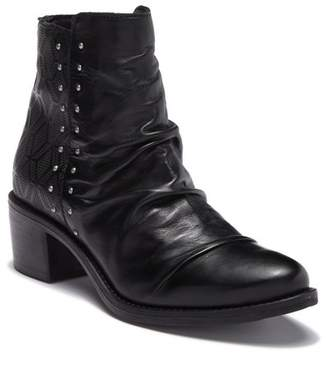 Miz Mooz Felix Ruched Leather Ankle Bootie