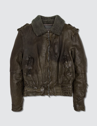 Neil Barrett Leather Jacket Brown