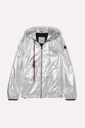 Moncler Hooded Metallic Shell Jacket - Silver