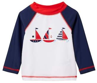 Little Me Sailboat Long Sleeve Rashguard (Baby Boys)
