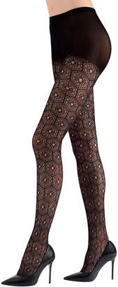 Natori Mikado-Lace Control-Top Tights