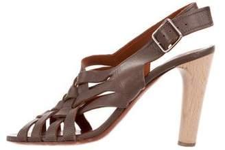 Lanvin Woven Slingback Sandals
