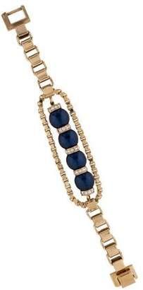 Mawi Faux Pearl & Crystal Bracelet