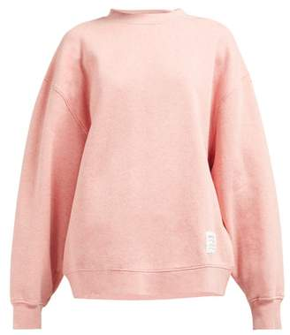 Acne Studios Fyona Loose Fit Cotton Jersey Sweatshirt - Womens - Pink