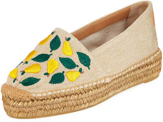 Castaner Kendra Flat Slip-On Espadrilles With Embroidery
